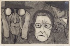 JOHN BRACK (1920-1999)  Spectators 1956 etching 17.0 x 27.0 cm numbered, signed and dated below image  edition: 6/12