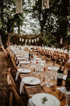 Outdoor Wedding Reception | Macramé & Dreamcatcher Woodland Wedding at Upthorpe Wood | Camilla Andrea Photography Rainy Wedding, July Wedding, Wedding Tips, Wedding Details, Outdoor Wedding Reception, Outdoor Weddings, Wedding Tables, Real Weddings, Wedding Ceremony