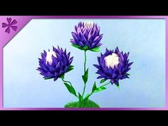 DIY Kanzashi flowers in flowerpot (ENG Subtitles) - Speed up #304 - YouTube