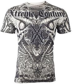 554836a4 Amazon.com: Xtreme Couture AFFLICTION Men THERMAL T-Shirt AZTEC Skull  Tattoo Biker (XX-Large): Clothing