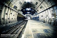 The abandoned Aldwych Underground Station (Formerly Strand Underground Station), London, England