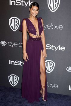 """dailyactress: """"Chanel Iman – 2017 InStyle and Warner Bros Golden Globes After Party in LA """""""