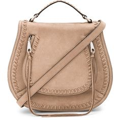 Rebecca Minkoff Small Vanity Saddle Bag (5,195 MXN) ❤ liked on Polyvore featuring bags, handbags, shoulder bags, bolsas, purses, beige shoulder bag, flap handbags, suede shoulder bag, handbags shoulder bags and man bag