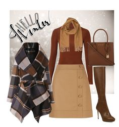 """Hello Winter"" by hisprincess2017 on Polyvore featuring Related, Hobbs, Chicwish, Jimmy Choo, MICHAEL Michael Kors and Loro Piana"