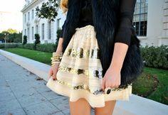(37) Fancy - Sparkle & Stripes Skirt