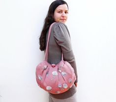 Knitted Floral Hobo Bag with Crochetted flowers by StarBags, $314.00