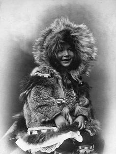 Inuit child in fur parka, Alaska, ca. 1903