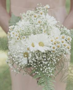 Romantic & Rustic Bouquet Featuring White Chamomile Daisies, Daisies, & Baby's Breath.......................................