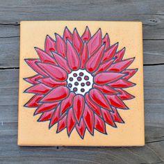 """Color Crazy Dahlia Ceramic Tiles- 4 1/4"""""""