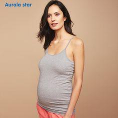 1927577eb63c4 US $13.99 |Aliexpress.com : Buy Pregnant Tank Tops Camis For Maternity  Women Tank Tops Pregnancy High Elastic Solid Sling Vest Casual Clothes  Summer AUROLA ...