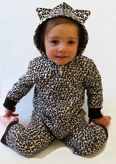Animal Print Baby Clothes | Animal Leopard Cute Baby Onesie With Ears
