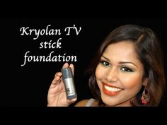 Kryolan TV Stick foundation application how to (Heavy makeup not for daily use) - YouTube