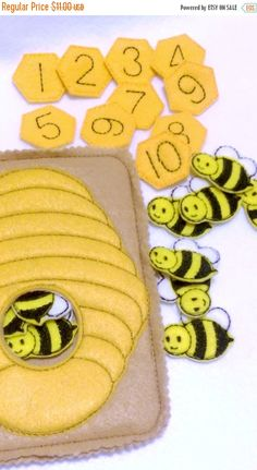 Halloween Sale Bee hive counting Quiet activity page educational game busy bags quiet book