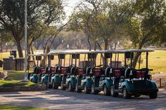 Full fleet of electronic Golf carts Golf Estate, Natural Contour, Water Supply, Golf Carts, Sustainability, Golf Courses, Spa, Sustainable Development