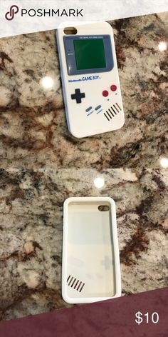 IPhone 4 Nintendo Gameboy cell phone case White rubber Nintendo Gameboy cell phone case for IPhone4! Love it but I have an iPhone 7 now. In great condition!!! Super cute!  Nintendo Accessories Phone Cases