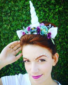 Tiara de Unicórnio para fantasia Halloween 2017, Holidays Halloween, Halloween Kids, Halloween Makeup, Deer Costume, Unicorn Costume, Unicorn Party, Unicorn Headband, Unicorn Hair