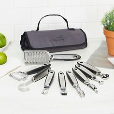 Wolfgang Puck 10-piece Garnishing Set with Color Accessory Bag at HSN.com.