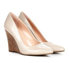 Taupe Pointed wedges - Kelly. I normally don't like wedges but this works for me.