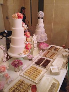 tasting table at The Peggy Porschen wedding cake launch
