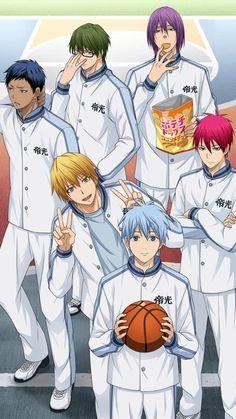 Kuroko no basuke Manga Anime, Otaku Anime, Anime Art, All Out Anime, Anime Guys, Kuroko No Basket Characters, Anime Characters, Anime Basket, Aomine Kuroko