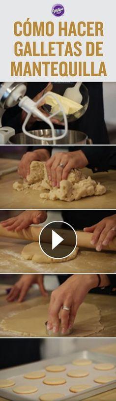 Galletas de Mantequilla-Atıştırmalık tarifler - Las recetas más prácticas y fáciles Mexican Food Recipes, Sweet Recipes, Cookie Recipes, Cupcake Cookies, Sugar Cookies, No Bake Desserts, Dessert Recipes, Pan Dulce, Galette