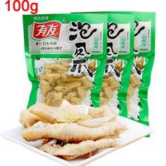 100 г Чунцин Специализированные Юю маринованные Куриные Лапы Lot Китайские Закуски Вкусные Китайские Продукты Питания