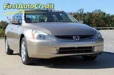 Check out this 2003 Honda Accord EX in Tan from First Auto Credit in , MO 63755. It has an automatic transmission. Engine is 3.0L SOHC 24-valve V6. Call Customer Service at (573) 204-7777 today!