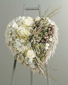 desert white flower funeral spray - Google Search