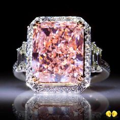 Our passion for fancy color diamonds is endless...This 8ct+ fancy orangish pink radiant cut is our today's favourite here at #Novel in #HongKong! Contact our experts in fancy color diamonds to inquire