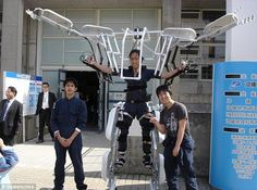 Transformer: The Skeletonics exoskeleton suit took just six months to design and build from aluminum sheets and pipes and is so lightweight that its designers say a child could use it