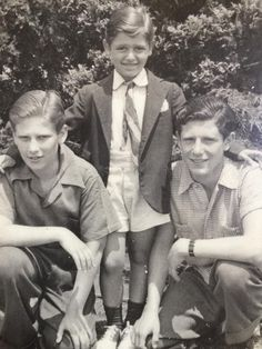 This is me with my two older brothers, Joe & Warren