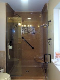 find this pin and more on bathroom learn 7 awesome tips to accessorize a solid surface shower kit