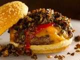 Bobby Flay Wild Mushroom-Cheddar Burger.  my favorite burger ever.
