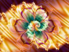 Flower and Fire Spiral by Thelma1.deviantart.com on @DeviantArt