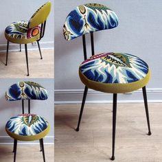 Je chine et je crée! Tissus , canevas, galons anciens , fauteuils et meubles sont mes sources d'inspiration.