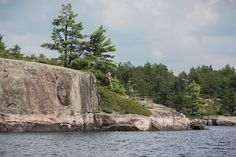 The French River is located in Central Ontario, Canada and stretches a 110 kilometre distance from Lake Nipissing to Georgian Bay. Ontario Travel, Cliff, Canada, Camping, River, French, Landscape, Campsite, French People