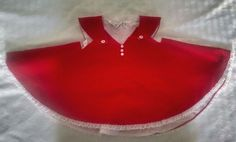 Vtg 50s 60s Bryan Baby Girl Dress 3-6M Red Lightweight Corduroy Lace Sleeveless #Bryan #DressyHoliday