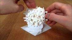 Gears galore from a printer - fully assembled.
