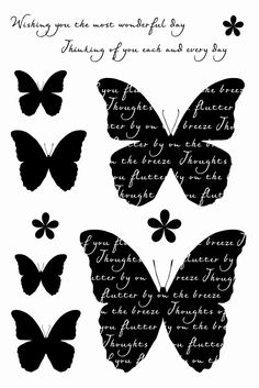 Woodware FRCL225 Butterfly Medley Card Clear Magic Stamp Set