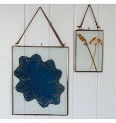Grand cadre en verre et métal 25 x 20 cm