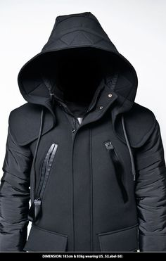 Outerwear :: Detachable Big Hood Neoprene Jacket-Parka 54 - Mens Fashion Clothing For An Attractive Guy Look