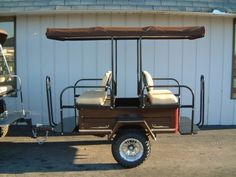 We built this lifted passenger tram to match one of our favorite custom golf cart projects. Whatever you can imagine, we can build it!