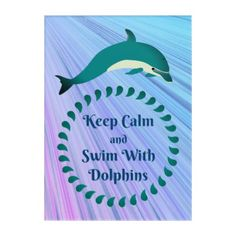 Dolphin Art - ocean side nature waves freedom design
