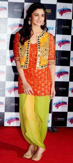 Alia Bhutt In Designer Patiyala Suit  www.fashiongroop.com