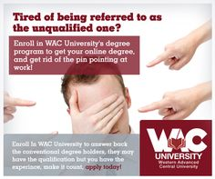 Get a chance to earn a fast paced degree at WAC University and Excel in your career! via WACUniversity Twitpic