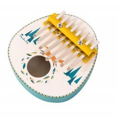 Kalimba Olgas Journey Toy by Moulin Roty. Instrument Percussion, Kalimba, Music Instruments, Symbols, Toys, Jouer, Guitar, Illustrations, Metal