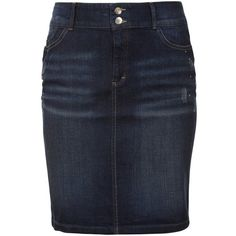 Triangle by s.Oliver Denim skirt found on Polyvore