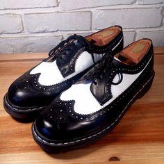 DOCTOR Dr. MARTEN Men's Shoes ~ Black & White Brogue Wing Tip Bex Oxfords ~ 11M  #DrMartens #Oxfords