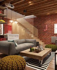 Diseño de interiores juvenil de sala