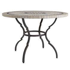 And the award for most outstanding table base in a supporting role goes to: Arc Table Base. Made from powder-coated steel with metallic highlights, its slender yet strong legs provide a nice, clean look. Indoors or out, it really gives your stone table top (sold separately) a chance to star.